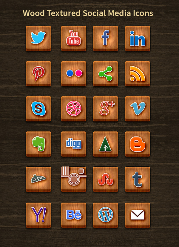 social-media-icons-wooden