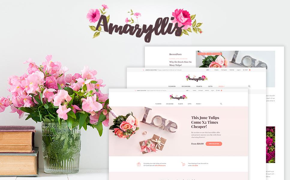 Адаптивный WooCommerce шаблон №64038 на тему цветочный магазин