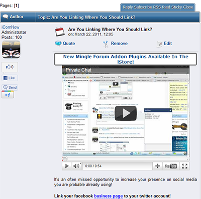 Mingle Forum Replies Ad Injector