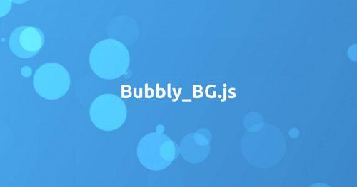анимированный фон Bubbly-bg.js