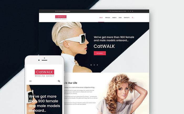 WordPress шаблон сайта модельного агентства