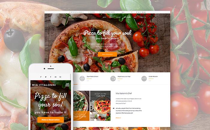 Бесплатный WP шаблон для сайта европейского ресторана