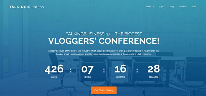 Talking Business - бесплатный WordPress шаблон для сайта конференции