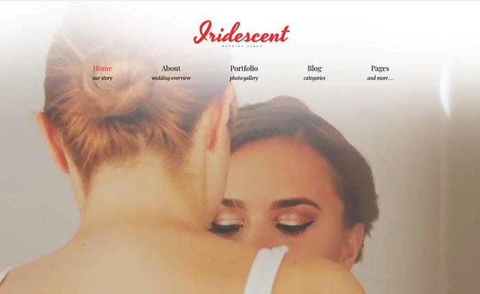 Iridescent - бесплатный шаблон фотоальбома онлайн